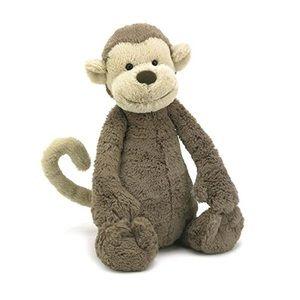 """Jellycat bashful monkey - 15"""" large EUC"""
